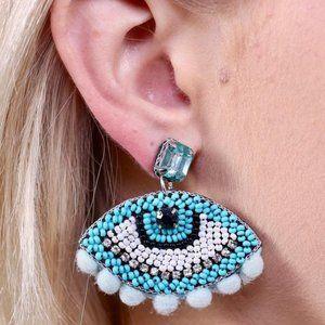 NWT Women's Eyes On You Earring Blue